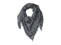 Chan Luu Leopard Cashmere And Silk Scarf Windchime Combo Scarves Gray