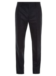 Maison Martin Margiela Straight Leg Flannel Trousers Grey