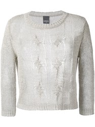 Lorena Antoniazzi Cable Knit Jumper Women Linen Flax Polyester Viscose 40 Nude Neutrals