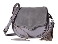 Rebecca Minkoff Mini Suki Crossbody Grey Denim Cross Body Handbags Gray