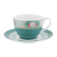 Pip Studio Blushing Birds Cappuccino Cup And Saucer Blue