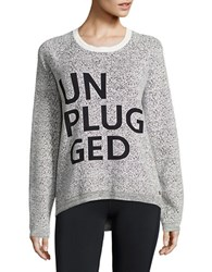Bench Unplugged Textured Knit Sweater Snow White