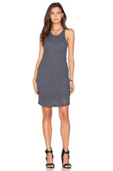 Monrow Stretch Tank Dress Charcoal