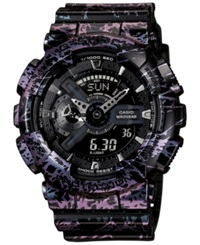 G Shock Men's Analog Digital Black Polarized Resin Strap Watch 55X51mm Ga10pm 1A Purple