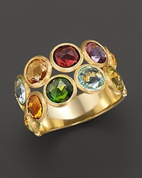 Marco Bicego Jaipur 2 Row Multi Stone Ring No Color