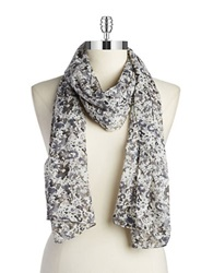 William Rast Bohemian Floral Scarf Grey