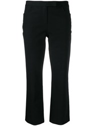 Theory Double Stretch Cropped Trousers Black