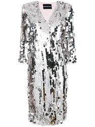 Marco Bologna Sequin Coat Grey