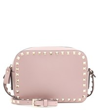 Valentino Rockstud Leather Crossbody Bag Neutrals