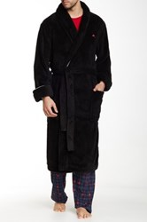 Tommy Bahama Solid Plush Robe Black