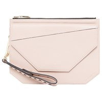 Ted Baker Colour By Numbers Cassis Leather Clutch Bag Nude Pink
