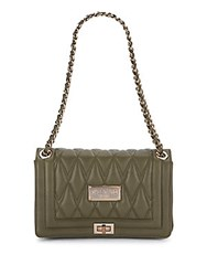 Valentino By Mario Valentino Two Compartment Leather Handbag Army Green