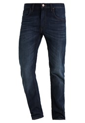 Lee Daren Zip Straight Leg Jeans Deep Blue River Dark Blue Denim