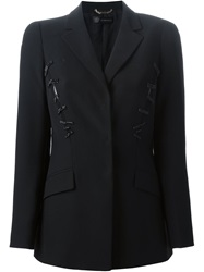Versace Beaded Blazer Black