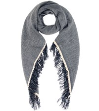Isabel Marant Swann Wool And Cashmere Scarf Green