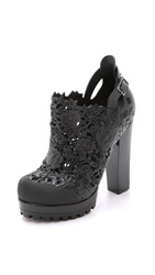 Melissa Alexandre Herchovitch Flower Booties Black