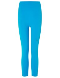Lucas Hugh Turquoise Technical Knit Sports Leggings Blue