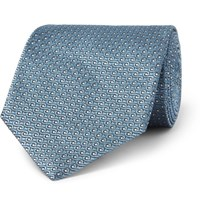 Tom Ford 8Cm Silk Jacquard Tie Blue