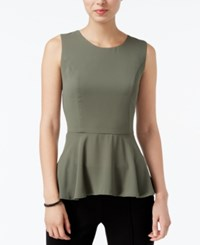 Bar Iii High Low Peplum Top Only At Macy's Dusty Olive