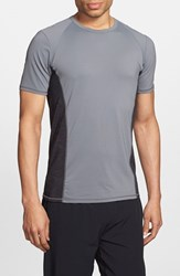 Men's Bpm Fueled By Zella 'Celsian' Short Sleeve Performance T Shirt Grey Shade