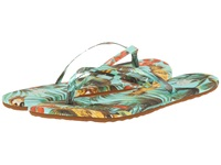 Vans Carmelle Print Tropical Parrot Beach Glass Women's Sandals Blue