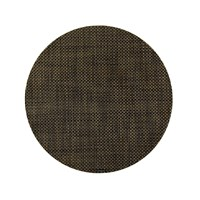 Chilewich Basketweave Round Placemat Black Gold