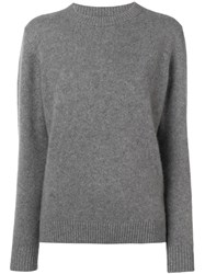 The Elder Statesman Crew Neck Sweater Grey