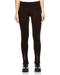 Aqua Ankle Zip Leggings Black