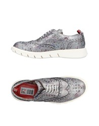Yab Lace Up Shoes Silver