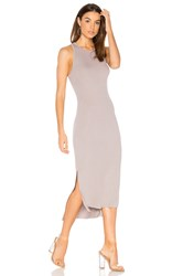 Enza Costa Rib Tank Dress Gray