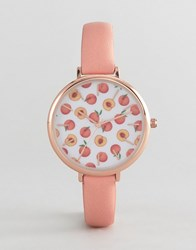 Asos Design Peaches Watch Pink