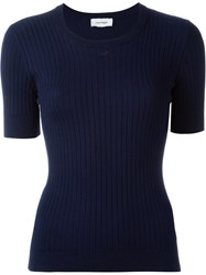Courra Ges Short Sleeve Sweater Blue