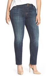 Plus Size Women's Lucky Brand 'Emma' Stretch Straight Leg Jeans Tiburon