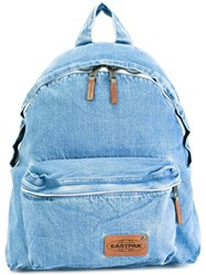 Eastpak Zip Up Denim Backpack Blue