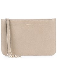 Valextra Zipped Pouch Nude Neutrals
