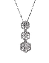 Lord And Taylor 0.5 Tcw Diamonds White Gold Tiered Pendant Necklace
