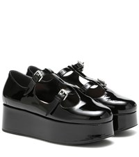 Miu Miu Patent Leather Platforms Black