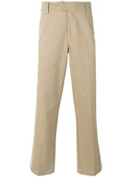 Soulland Greco Chino Trousers Men Cotton Polyester M Nude Neutrals