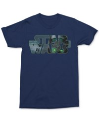 Mighty Fine Men's Star Wars Graphic Print T Shirt Navy