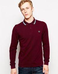 Fred Perry Polo With Twin Tip In Long Sleeve Slim Fit