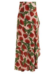 Adriana Degreas Fiore Pareo Floral Printed Wrap Skirt Pink Print