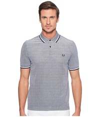 Fred Perry Slim Fit Solid Plain Polo Dark Carbon Oxford White Navy Men's Short Sleeve Pullover Gray