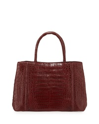 Nancy Gonzalez Small Sectional Crocodile Tote Bag Burgundy