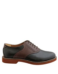 Bass Burlington Leather Two Tone Oxfords Black