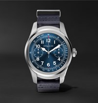 Montblanc Summit 46Mm Stainless Steel And Rubber Smartwatch Blue