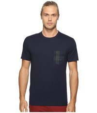 Original Penguin Short Sleeve Black Watch Pocket Tee Dark Sapphire Men's T Shirt Blue