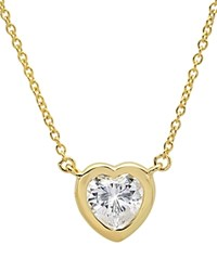 Crislu Heart Pendant Necklace 16 Gold