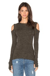 Current Elliott The Cut Out Sweater Olive