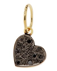Mini Black Diamond Heart Charm Kacey K Gold Black