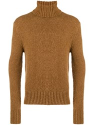 Ami Alexandre Mattiussi Turtle Neck Sweater Brown